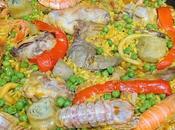 Paella mixta conejo marisco
