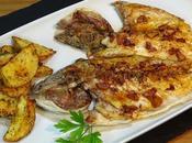 Dorada espalda patatas horno, fácil deliciosa