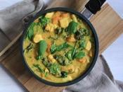 Curry Pollo Calabaza Kale