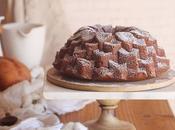 Bundt cake boniato queso ricotta. cómo conseguir remolino jugoso cheesecake.