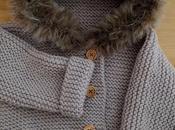Abrigo tejido agujas