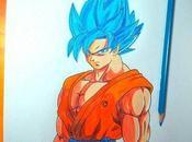 Dibujos dragon ball color goku dios para dibujar