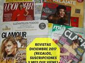 Revistas Diciembre 2017 (Regalos, suscripciones viene)