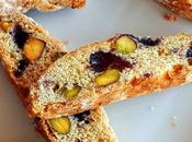 Receta biscotes pistacho arándanos