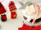 Cupcakes chocolate turrón crema blanco para estas Navidades
