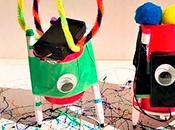 Construye robot reciclado ¡Taller infantil gratis!