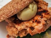 Hamburguesas salmón mahonesa wasabi
