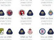 Calendario Pumas para Clausura 2018