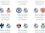 Calendario Puebla para Clausura 2018