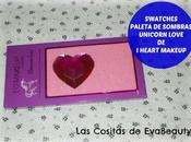 Swatches Paleta ojos Unicorn Love Heart Makeup London