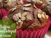 Muffins avena integral cacao azúcar