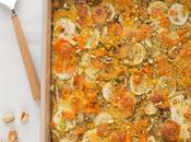 Pastel verduras pistachos