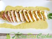Atún plancha salsa pistachos