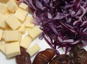 Salade chou rouge, fromage cheddar dates dates, cheese cabbage salad ensalada repello rojo, queso dátiles /سلطة الملفوف الاحمر الشيدار التمر