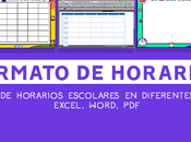 Formatos horario clases 2018 para imprimir gratis (Excel, Word, PDF)