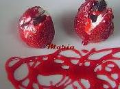 Fresas rellenas queso beso chocolate