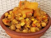 Curry garbanzos yuca