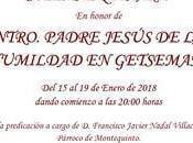 Solemne Quinario honor Ntro. Padre Jesús Humildad Getsemaní