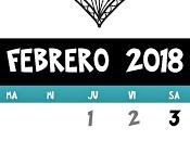Calendarios Febrero, tres diseños