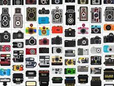 Camera Collection: Ilustraciones pixeladas