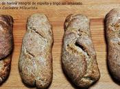 Panecillos harina integral espelta trigo (sin amasado)