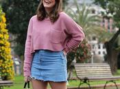Outfit sencillo chic jersey rosa