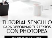 Tutorial Sencillo Para Deformar Textos Photopea