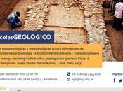 #GEOARQUEOLOGIA Conferencia Carlos Toledo Miércoles Sociedad Geológica