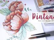 Pintando: Flor acuarela