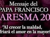 Mensaje Papa Francisco para Cuaresma 2018