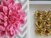 Cuadros decorativos flores hechas fieltro papel