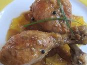 Muslos pollo carambolos salsa limas