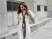 Vestido boho blanco encaje