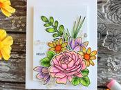 Simon Says Stamp Stitched Flowers Bouquet