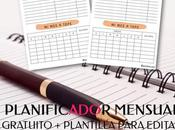 Planificador Mensual Gratuito Plantilla Para Editar