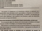 Cese docentes título. Excepción escuelas técnicas.Provincia Buenos Aires