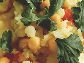 Receta coliflor curry garbanzos