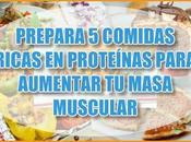 Prepara comidas ricas proteínas para aumentar masa muscular