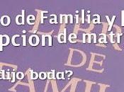 Libro Familia Inscripción Matrimonio