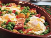 Guisantes jamón huevo estilo Portugal