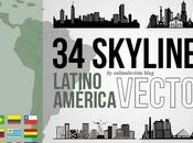 Skylines Latino América Formato Vector Gratis