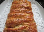 Hojaldre cruzado relleno jamón cocido queso