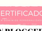 certificado dominio blogger