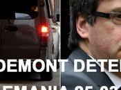 Puigdemont, detenido Alemania tras entrar coche desde Dinamarca