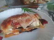 Lasaña pollo berengena