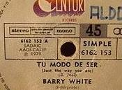 "BARRY WHITE Modo Ser"" rpm)"