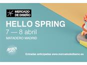 Hello spring celebra primavera mercado diseño