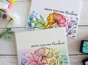 Rainbow Cards Ways Waffle Flower BLOG