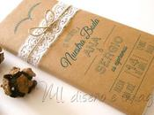 Invitaciones boda tabletas chocolate