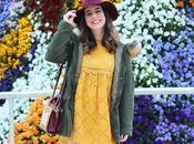 Vestido amarillo parka verde para primavera